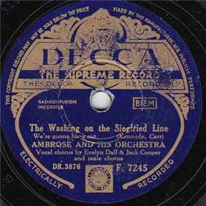 Ambrose And His Orchestra - The Washing On The Siegfried Line Album